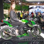 Kawasaki Z300 side angle at the EICMA 2014