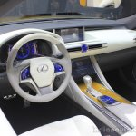 Lexus LF-C2 concept dashboard at the 2014 Los Angeles Auto Show