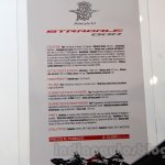 MV Agusta Stradale 800 spec sheet at EICMA 2014