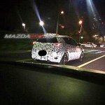 Mazda CX-3 rear quarter spied