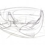 Mercedes Autonomous Driving car sketch