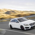 Mercedes CLA 45 AMG Shooting Brake front quarter