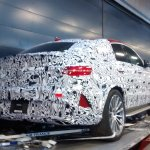 Mercedes GLE Coupe AMG rear quarter spied