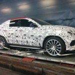 Mercedes GLE Coupe AMG side spied