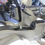 Mercedes-Maybach S600 rear seat at the 2014 Los Angeles Auto Show