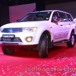 Mitsubishi Pajero Sport AT front three quarters right at the Indian launch