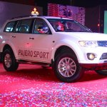 Mitsubishi Pajero Sport AT front three quarters view at the Indian launch