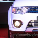 Mitsubishi Pajero Sport AT headlamp and foglamp at the Indian launch