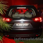 Mitsubishi Pajero Sport AT rear at the Indian launch