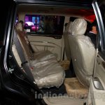 Mitsubishi Pajero Sport AT second row seat at the Indian launch