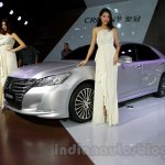 New Toyota Crown front three quarters at the 2014 Guangzhou Auto Show