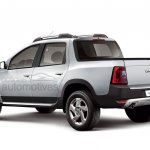 Renault Duster Oroch production version rear render