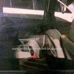 Renault Lodgy rear seat spied in India