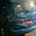 Renault Lodgy rear spied in India