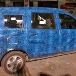 Renault Lodgy wheels spied in India