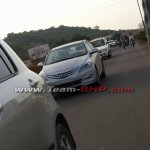 Spied Hyundai Verna facelift front