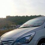 Spied Hyundai Verna facelift headlight