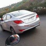 Spied Hyundai Verna facelift rear