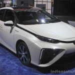 Toyota Mirai front three quarters left at the 2014 Los Angeles Auto Show