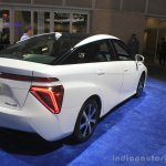 Toyota Mirai rear three quarters left at the 2014 Los Angeles Auto Show