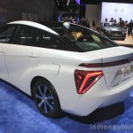 Toyota Mirai rear three quarters view at the 2014 Los Angeles Auto Show