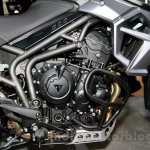 Triumph Tiger 800 XCx engine at EICMA 2014