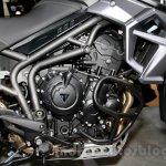 Triumph Tiger 800 XCx engine at EICMA 2014