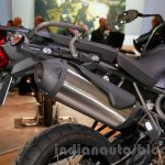 Triumph Tiger 800 XCx silencer at EICMA 2014