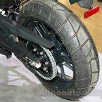 Triumph Tiger 800 XRx rear wheel at the EICMA 2014