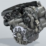 Volkswagen 272 HP 2.0L diesel engine with electric turbocharger