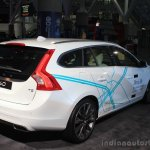 Volvo Drive Me autonomous vehicle rear three quarters at the 2014 Los Angeles Auto Show