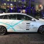Volvo Drive Me autonomous vehicle side at the 2014 Los Angeles Auto Show
