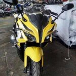 Bajaj Pulsar 200 SS ABS front spied without camouflage