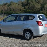 Datsun Go+ rear three quarter Review