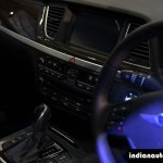Hyundai Genesis centre console at Autocar Performance Show 2015