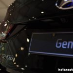 Hyundai Genesis nameplate at Autocar Performance Show 2015