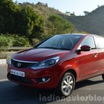 Tata Bolt 1.2T tracking front quarter Review