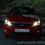 Tata Bolt front with lights on