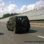 Mahindra U301 Bolero replacement spied in Chennai rear three quarter