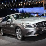 2015 Mercedes Benz CLA shooting brake front three quarter in Brussels
