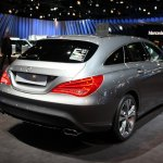 2015 Mercedes Benz CLA shooting brake rear three quarter in Brussels