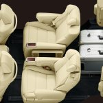 2015 Toyota Alphard Vellfire interior seating Japan