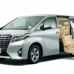 2015 Toyota Alphard front three quarters Japan