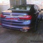 2016 BMW 7 Series rear three quarters fully revealed