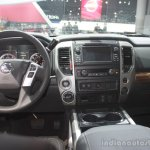2016 Nissan Titan XD dashboard at the 2015 Detroit Auto Show