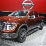 2016 Nissan Titan XD front three quarters at the 2015 Detroit Auto Show