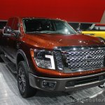 2016 Nissan Titan XD front three quarters left at the 2015 Detroit Auto Show