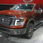 2016 Nissan Titan XD front three quarters view at the 2015 Detroit Auto Show