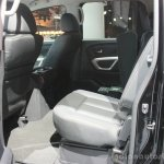 2016 Nissan Titan XD rear seat at the 2015 Detroit Auto Show