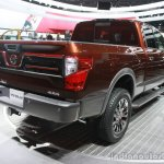 2016 Nissan Titan XD rear three quarters at the 2015 Detroit Auto Show